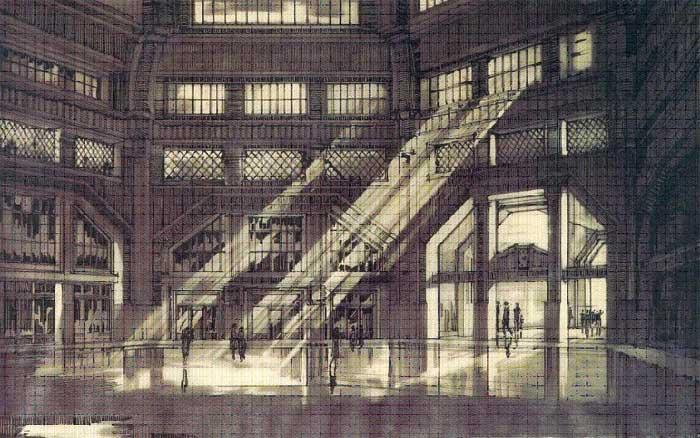 Estación Concordia, persepectiva presentada a Salón Nacional de Arquitectura